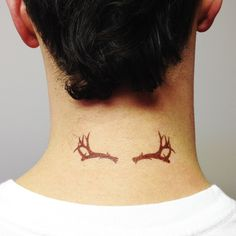 Antlers Tattoo by blacktagtattoos on Etsy, $5.00