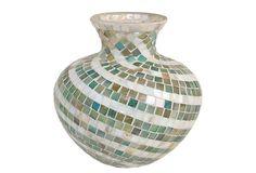 Mosaic Vase in Green