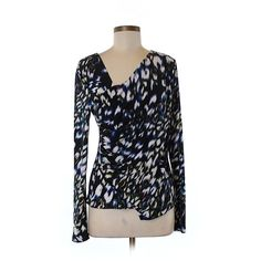 871f98f54f4804 Pre-owned Vince Camuto Long Sleeve Top Size 8  Black Women s Tops ( 17) ❤  liked on Polyvore featuring tops