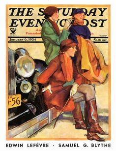 """Women in Riding Habits"" by John LaGatta, cover of Saturday Evening Post, Jan. 6, 1934"