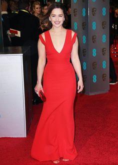 The Best Dresses On the BAFTAs Red Carpet via @WhoWhatWear