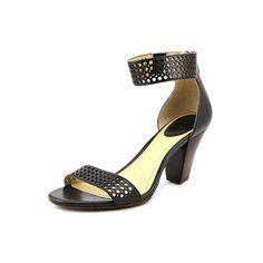 Frye Women's Skye Perf Ankle Black Smooth Full Grain Pump 7 B (M) >