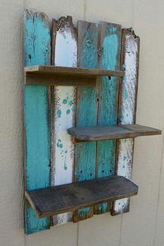 Beach shelf for the bathroom / guest bedroom.