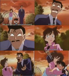 Little does she know, Conan IS the detective kid