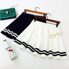 """Fashion students navy skirt kawaii clothing online store. sponsorship review and affiliate program opened here! - use this coupon code to get 10% off """"discountkawaii"""""""