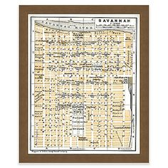 For anyone who loves the great state, the Framed Giclee Map of Savannah, Georgia Wall Art is perfect. The birds-eye view on the antique map of the beautiful land captures the history and geography that any traveler or history enthusiast will appreciate.