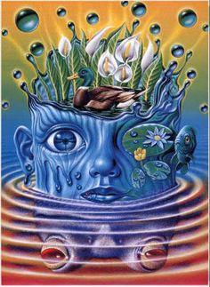 「水辺の草花のある暮らし」本文イラスト 自由時間MOOK マガジンハウス2000年7月30日(平成12年)