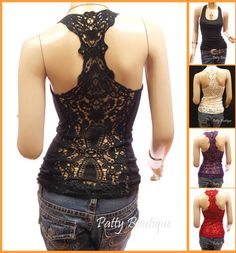Lace Back cami