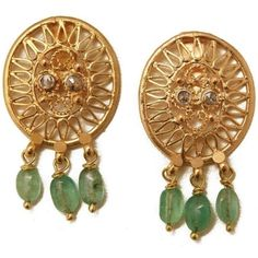 BACTRIAN diamond earrings. Reminiscent of dream catchers and inspired by the mythology of Bactria,