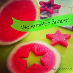 Serve up some fun with Watermelon Shapes: cut out shapes with cooker cutters, put on Lilly sticks and freeze for healthy homemade ice lollies.