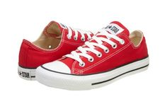 Converse Chuck Taylor All Star Shoes (M9696) Low Top in Red, Size: 7 D(M) US Mens / 9 B(M) US Womens, Color: Red