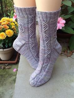 Galadriel socks  by knitwiththese, via Flickr