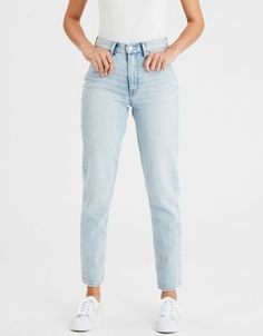 light wash jeans - AE