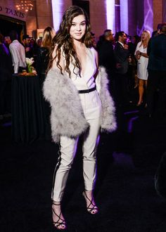 Hailee Steinfeld at Topshop's store-opening celebration in Grand Central.