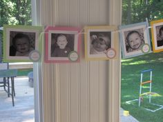 first birthday photo banner pictures