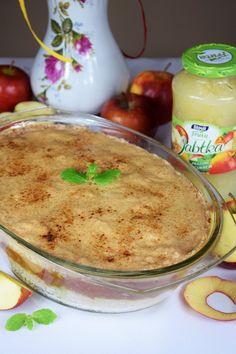 Zapiekany ryż z jabłkami z cynamonowym nadzieniem! Hummus, Pudding, Ethnic Recipes, Food, Fruit, Custard Pudding, Essen, Puddings, Meals