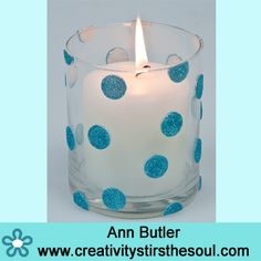 Quick and Easy Glitter Votives by Ann Butler