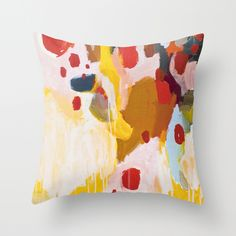 History Lesson Throw Pillow via Society6