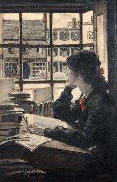 Woman Reading by Window. Jessie Wilcox Smith (American, Smith was a US illustrator famous for her magazine work in Ladies Home Journal and children's book illustrations. Reading Art, Woman Reading, Reading Books, I Love Books, Books To Read, Jessie Willcox Smith, Robert Duncan, Oeuvre D'art, Female Art