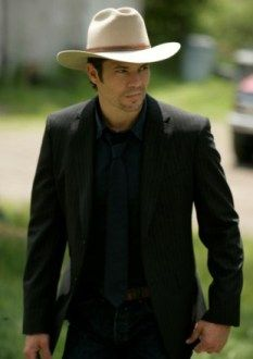 """Justified is a new show on FX. It stars Timothy Olyphant. The actor portrays Deputy U. Marshal Raylan Givens,"""" described by the network. Justified Season 2, Beautiful Men, Beautiful People, Raylan Givens, Walton Goggins, Hot Cowboys, The Lone Ranger, Timothy Olyphant, Famous Faces"""