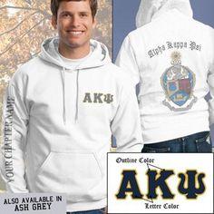 Alpha Kappa Psi Crest Sweatshirt - Gildan 18500 - SUB