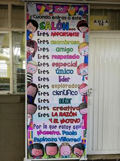Simple & Fun Rocket Craft For Kids Spanish Classroom Door, Spanish Classroom Posters, Classroom Rules Poster, Classroom Decor, Spanish Bulletin Boards, Spanish Lessons, Teaching Spanish, First Day Of School, Back To School