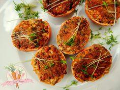Jajka w skorupkach faszerowane grzybami i koperkiem