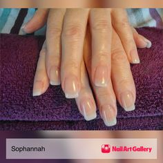Natural Gel Nail Enhancements By Sophannah From Art Gallery