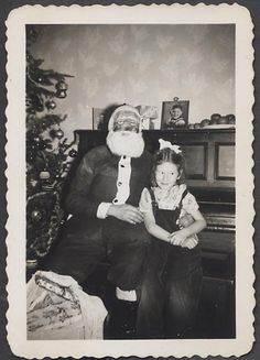 What's with the Scary Santa's?