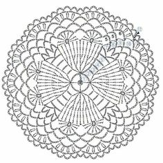 The scheme of knitting Christmas potholders - crochet snowflakes Crochet Mandala Pattern, Crochet Circles, Crochet Motifs, Crochet Diagram, Crochet Stitches Patterns, Doily Patterns, Crochet Round, Crochet Chart, Thread Crochet