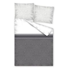 Sivá súprava posteľných obliečok