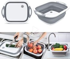 Tire Table, Kitchen Basin, Baking Gadgets, Essential Kitchen Tools, Vegetable Basket, Dish Drainers, Drain Plugs, Cool Kitchen Gadgets, Kitchen Stuff