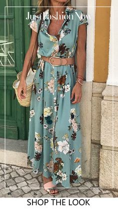 4282 Print Floral Short Sleeves A Linie Maxi Lässige Kleidung Urlaub Kleider . 4282 Print Floral Short Sleeves A Line Maxi Casual Vacation Dresses VeryVoga Maxi Shirts, Maxi Shirt Dress, Maxi Dress With Sleeves, Short Sleeve Dresses, Sheath Dress, Long Sleeve, Short Sleeves, Slit Dress, Dress Tops