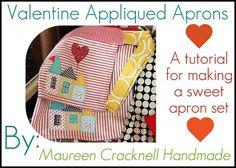 Maureen Cracknell Handmade: A Valentine Appliqued Apron Set Tutorial : :