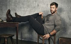 Download wallpapers Chris Hemsworth, guys, Hollywood, australian actor, photoshoot, celebrity