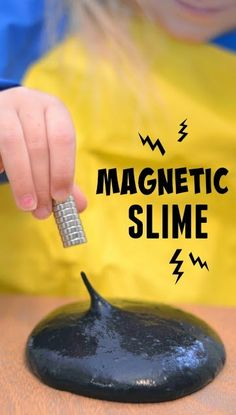 Take slime play to a whole new level with amazing magnetic slime.  This recipe only takes five minutes to make and requires just a few materials, making it an easy way to WOW the kids!