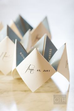Love this little creative bit of fun as a table decoration. >> Photography: Christian Oth Studio - christianothstudio.com