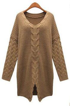 Warm Welcome Twist Knitting Sweater