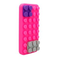 MORTON Removable 3D Lego Brick BLOCK Soft Silicone Case Cover Skin for iPhone 5 G _hot pink by MORTON, http://www.amazon.com/dp/B00A60JGVS/ref=cm_sw_r_pi_dp_njpLrb1XYGP0S