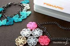 Make designer shrink jewelry using Fiskars Intricate Shape Punches!