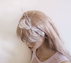 Wedding Hair Tiara Exclusive  Fascinator   Sparkly by ADbrdal, $42.00  #bride #wedding #hair