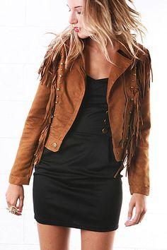 Lush Fringe Jacket - Suede Jacket -ok so i want this too!!!