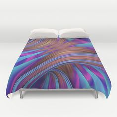 Ride the Swirl Duvet Cover by Lyle Hatch | Society6