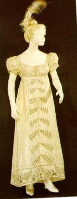 Dress, ca. 1822, from the Museu Nacional do Traje e da Moda
