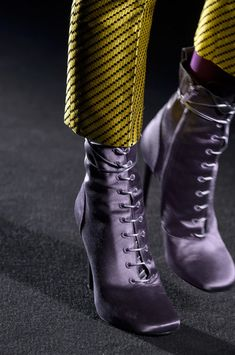 eea7a5d1b92 Haider Ackermann at Paris Fashion Week Fall 2018 - Details Runway Photos  Bootie Boots