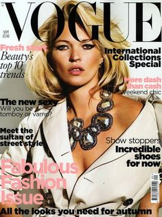 Ooh La La # 20 Years of Kate Moss on #Vogue... one of our faves, her UK: A little Dynasty in September 2009; via fashionista #lierac #lieracskin #oohlala #fashion #beauty #style