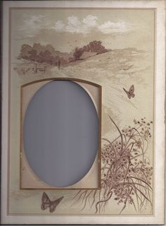 Lovely Page from Victorian Photo Album, Sepia Landscape, Cabinet Photo