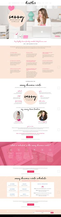 Savvy Business Circle page via @Heathercrabtree designed by @magnoliahouse_