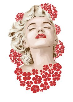 Marilyn Monroe by FalcaoLucas   | This image first pinned to Marilyn Monroe Art board, here: http://pinterest.com/fairbanksgrafix/marilyn-monroe-art/ || #Art #MarilynMonroe
