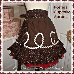 Hostess Cupcake Handmade Apron by mimisneedle on Etsy